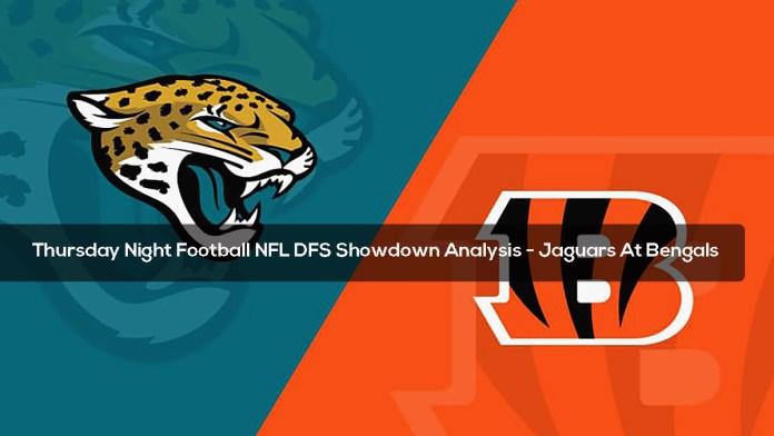 Thursday Night Football NFL DFS Showdown Analysis - Jaguars At Bengals
