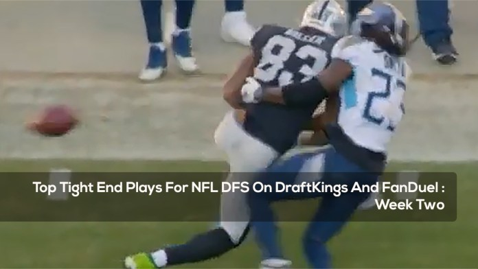 Top Tight End Plays For NFL DFS On DraftKings And FanDuel - Week Two