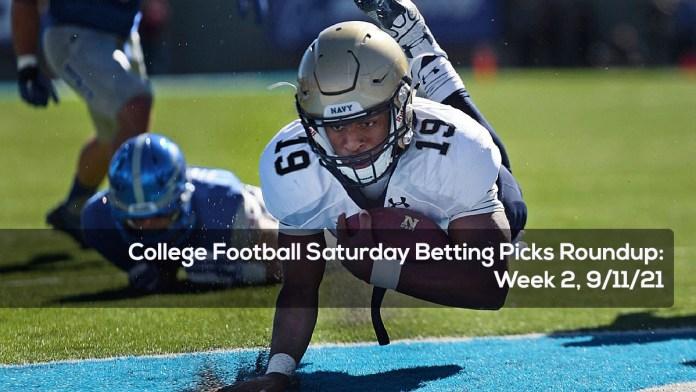 Week 2 College Football Saturday Betting Picks Roundup-