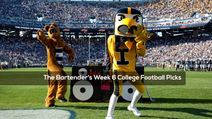 The Bartender's Week 6 College Football Picks