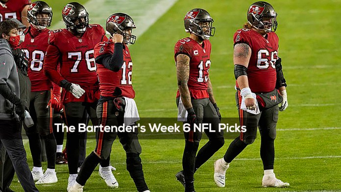 The Bartender's Week 6 NFL Picks