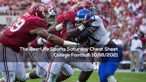 The BeerLife Sports Saturday Cheat Sheet, College Football: 10/16/2021