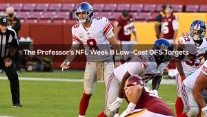 The Professor's NFL Week 8 Low-Cost DFS Targets