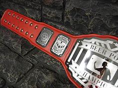 Red Beer Pong Championship Belt