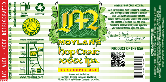 moylans hop craic xxxx ipa