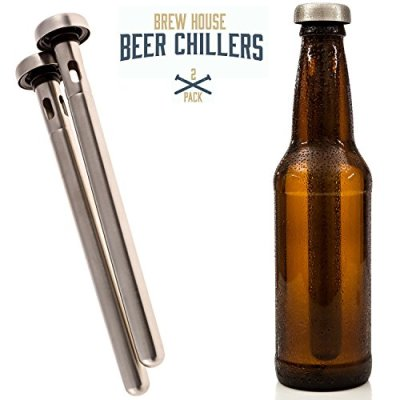 Brew-House-Beer-Chillers-2-Piece-Gift-Set-for-Men-Stainless-Steel-Drink-Chiller-Sticks-Keep-Bottled-Drinks-Cold-a-cooler-bar-party-accessory-an-ale-chilling-necessity-Made-by-Arron-Kelly-0