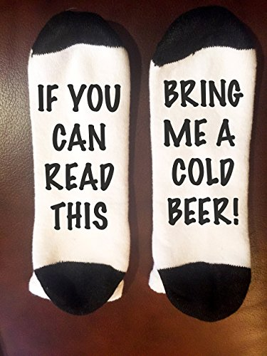 Bring-me-a-Cold-Beer-Socks-If-you-can-read-this-socks-funny-christmas-gift-Stocking-Stuffer-Writing-on-Socks-0