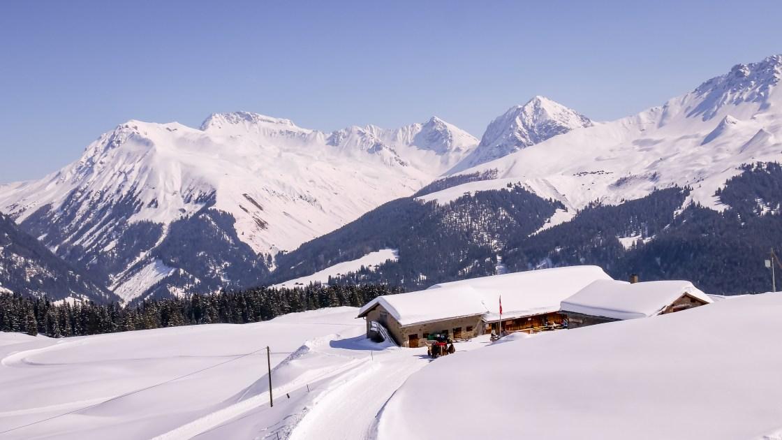 Arosa Prätschli Prätschalp winterwonderland Spaziergang Wanderung