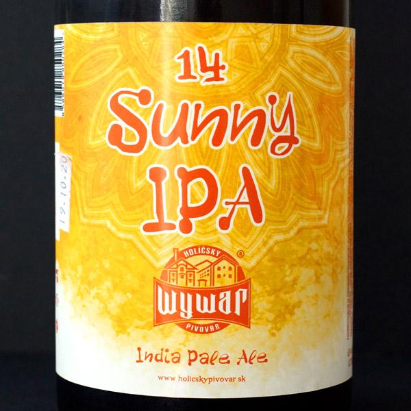 WYWAR; Sunny IPA 14°; Craft Beer; Remeselné Pivo; Živé pivo; Beer Station; Fľaškové pivo; IPA