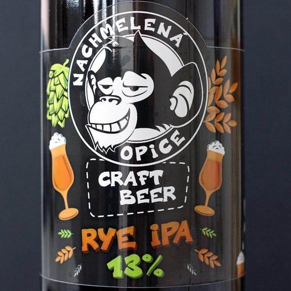 Rye IPA 13; Nachmelena Opice; Pivo Nachmelena Opice; Pivo Opica; Distribúcia piva