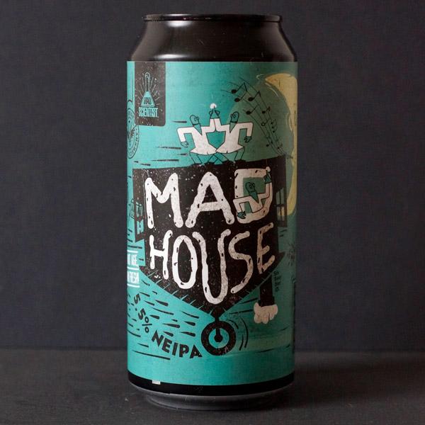 Madhouse; MAD Scientist; Maďarský pivovar; madarske pivo; NEIPA; pivoô Craft Beer v plechovke; remeselné pivo