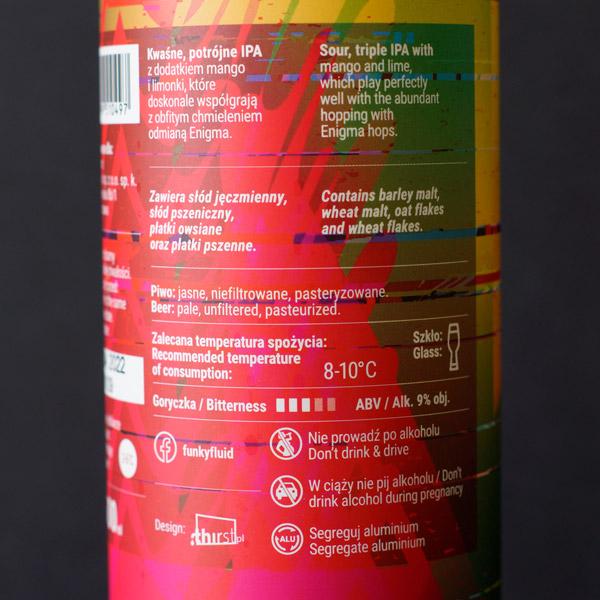 Funky Fluid; Acid Trip Enigma Mango & Lime; Craft Beer; Remeselné Pivo; Pod vrchnakom; Beer Station; Plechovkové pivo; Sour Triple IPA; Sour IPA; Distribúcia piva; Poľské pivo