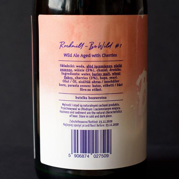 Rockmill; Be Wild #1; Craft Beer; Remeselné Pivo; Salon piva; Beer Station; Fľaškové pivo; Wild Ale; Distribúcia piva; Poľský pivovar; Poľské pivo