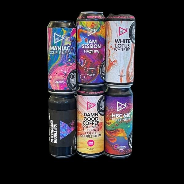Funky Fluid; 6Pack #2; Craft Beer; Remeselné Pivo; Pod vrchnakom; Beer Station; Plechovkové pivo; Distribúcia piva; Poľské pivo
