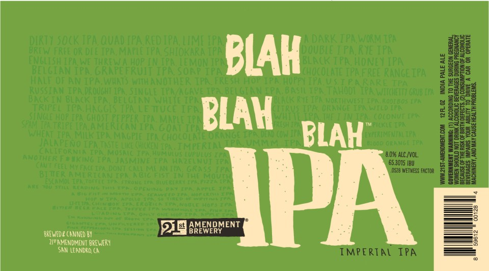 21st Amendment Blah Blah Blah IPA