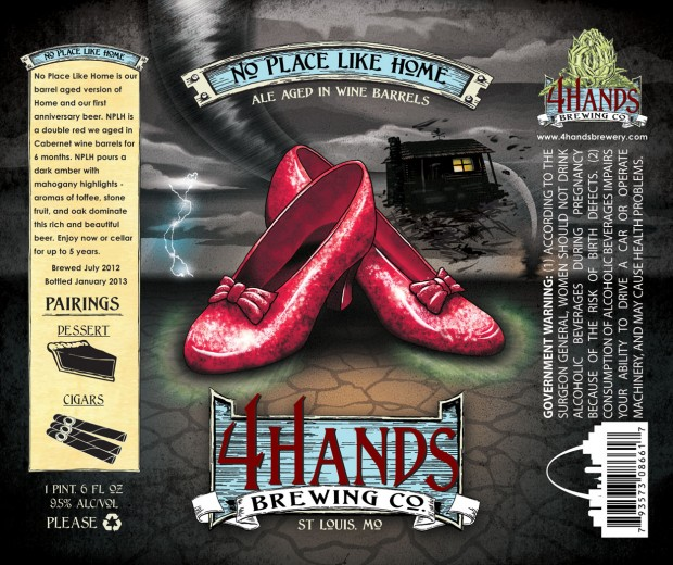 4 hands brewing no place like home