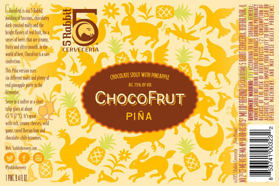 5 Rabbit ChocoFrut Pina