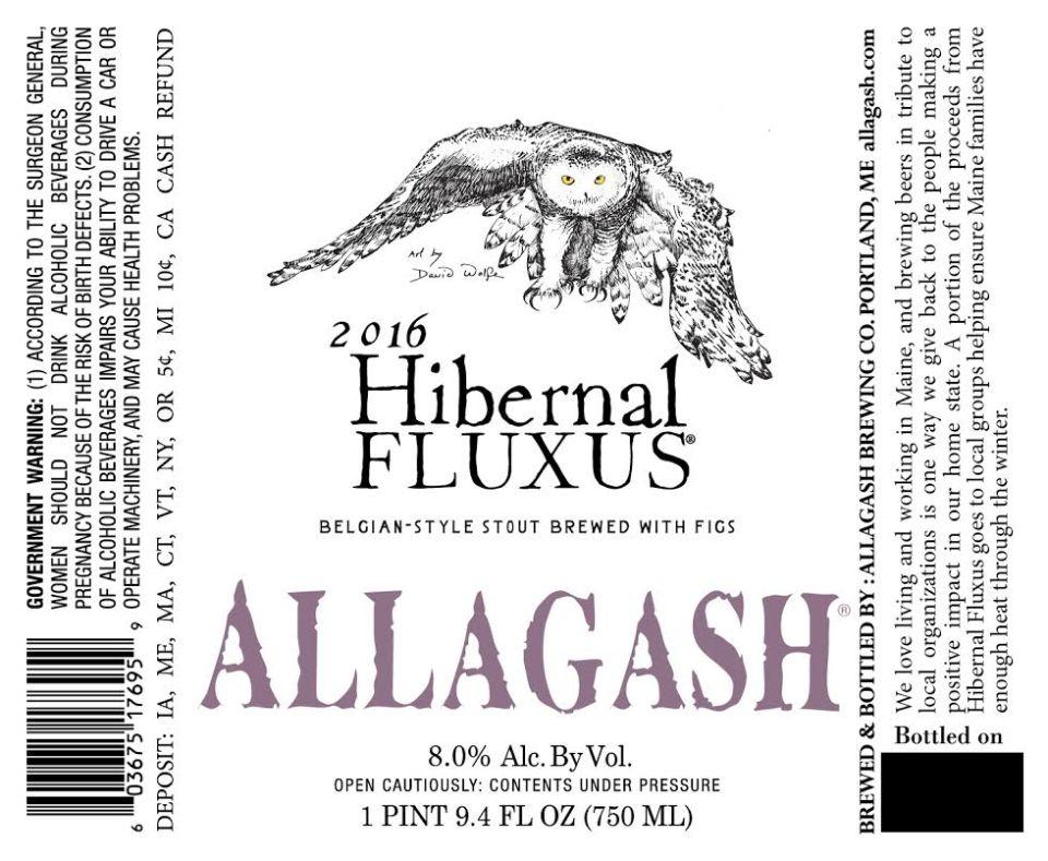Allagash Hibernal Fluxus 2016