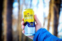Allagash White Can Hands