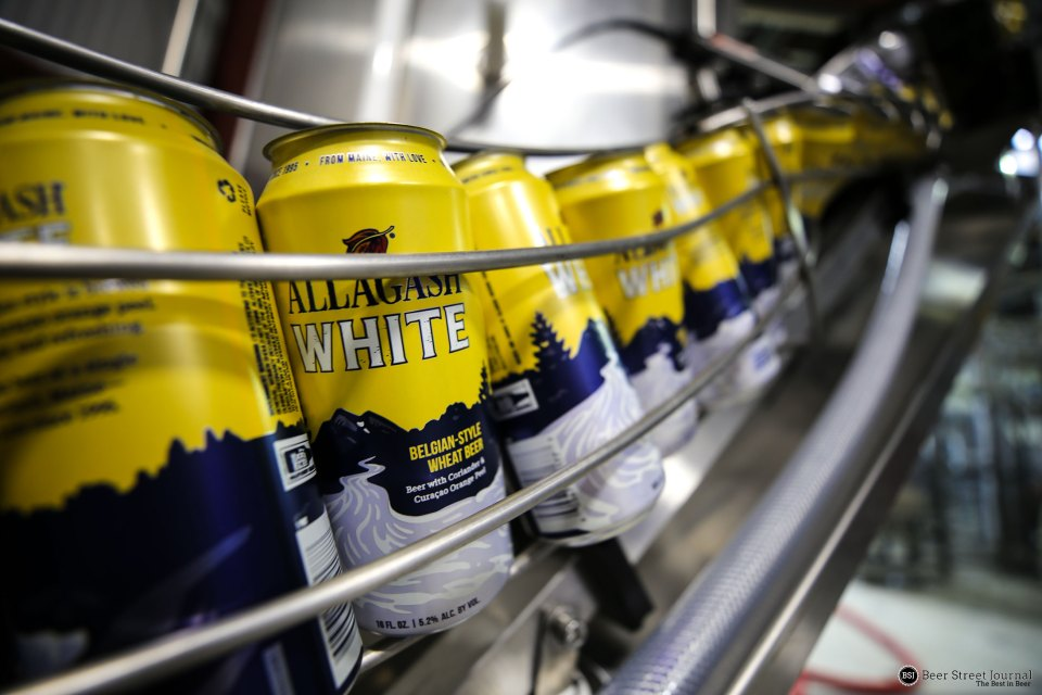 Allagash White Canning Line
