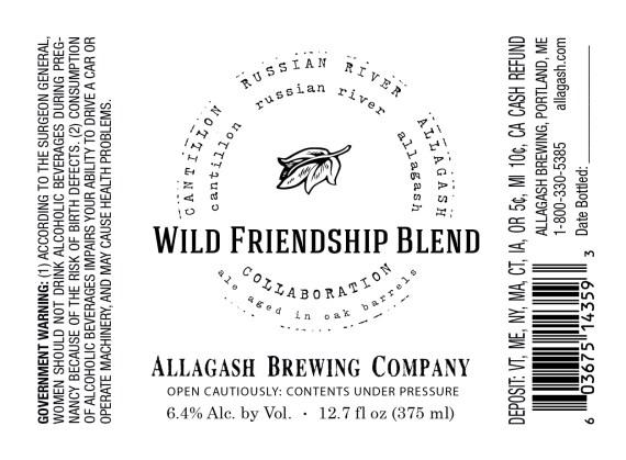 Allagash Wild Friendship Blend