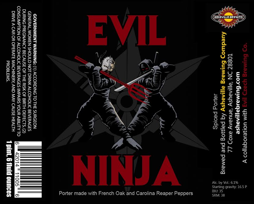Asheville Brewing Evil Ninja