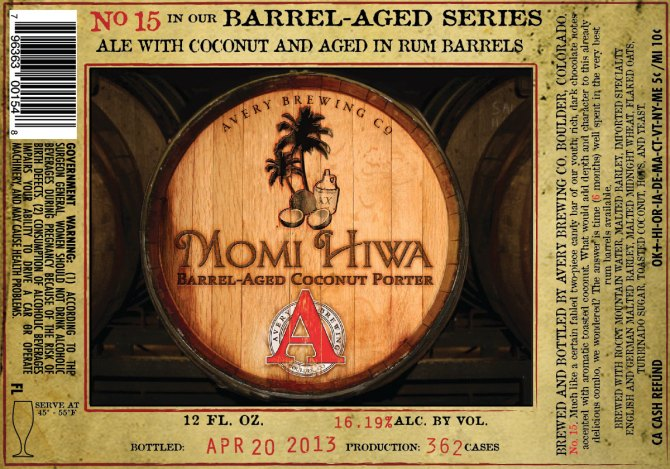 Avery Momi Hiwa Barrel Aged Coconut Porter