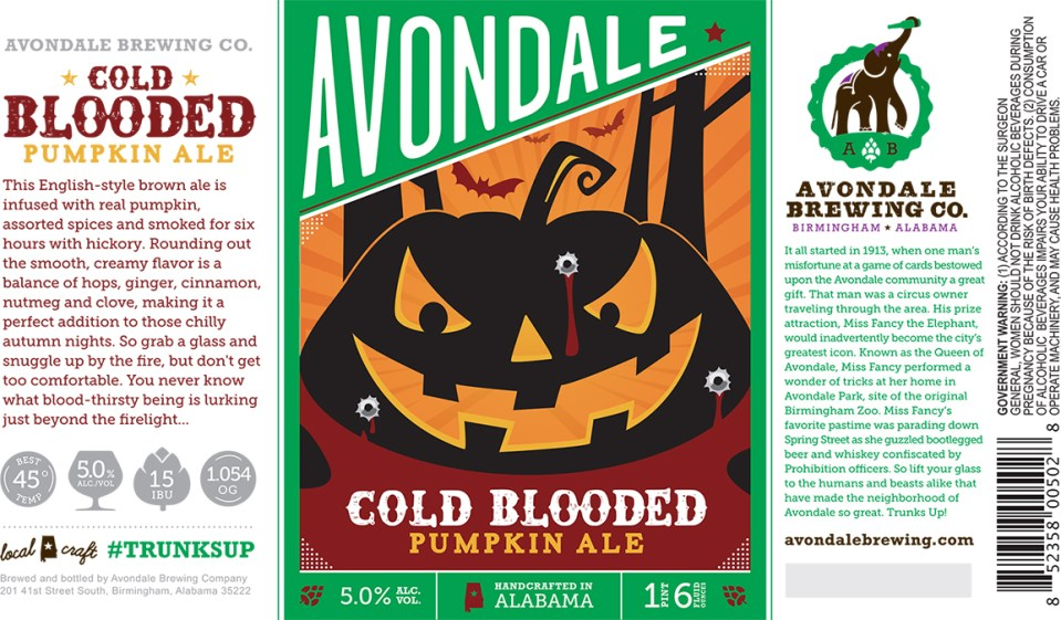 Avondale Cold Blooded Pumpkin Ale