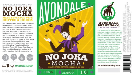 Avondale Brewing No Joka Mocha