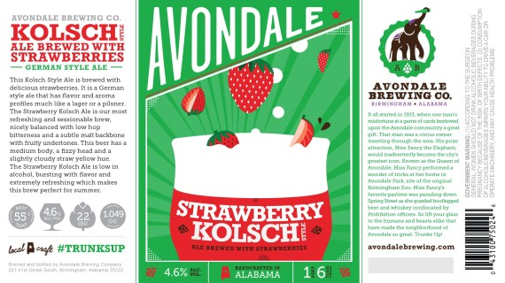 Avondale Strawberry Kolsch