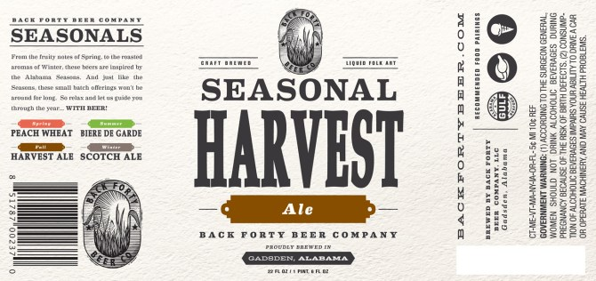 Back Forty Seasonal Harvest Ale