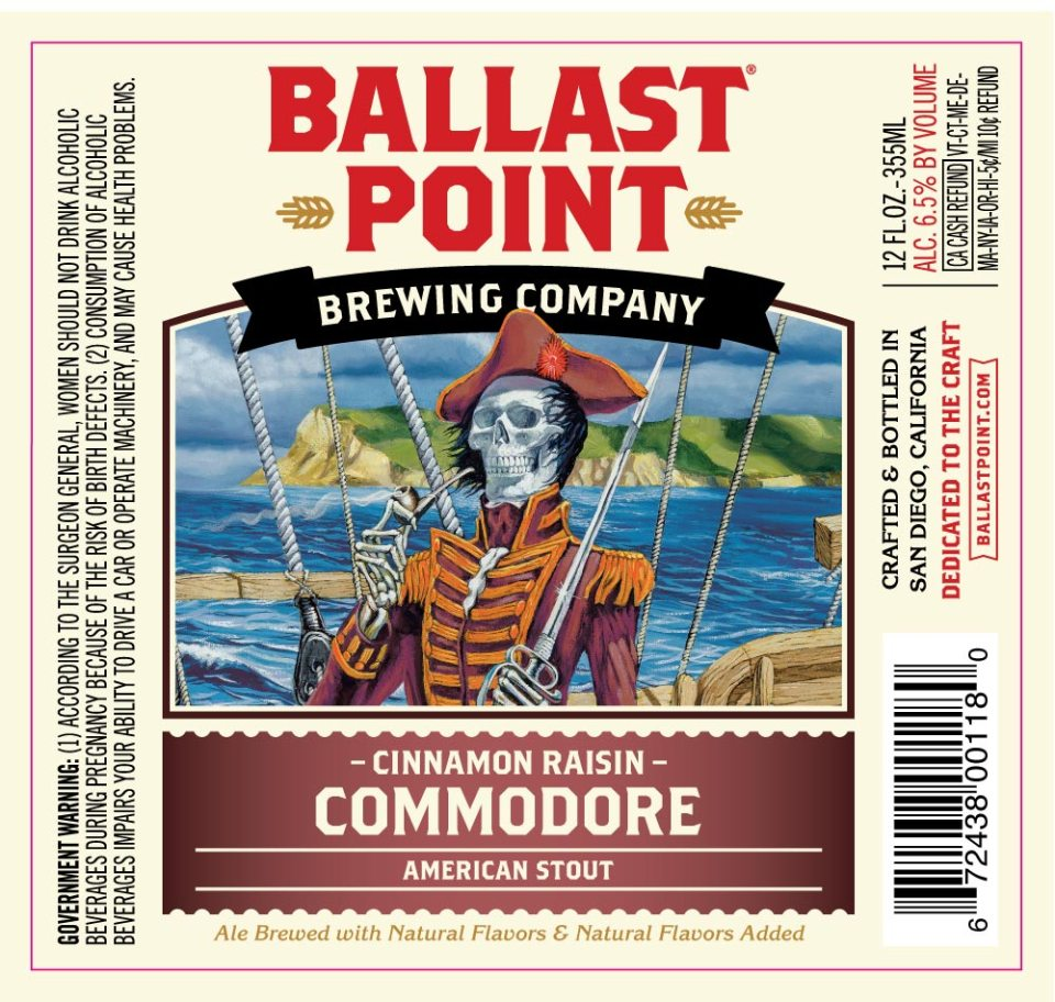 Ballast Point Cinnamon Raisin Commodore