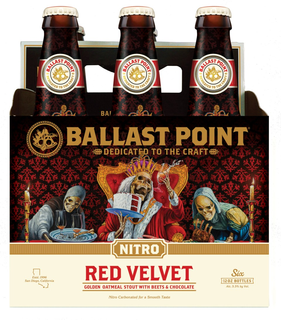 Ballast Point Red Velvet bottles