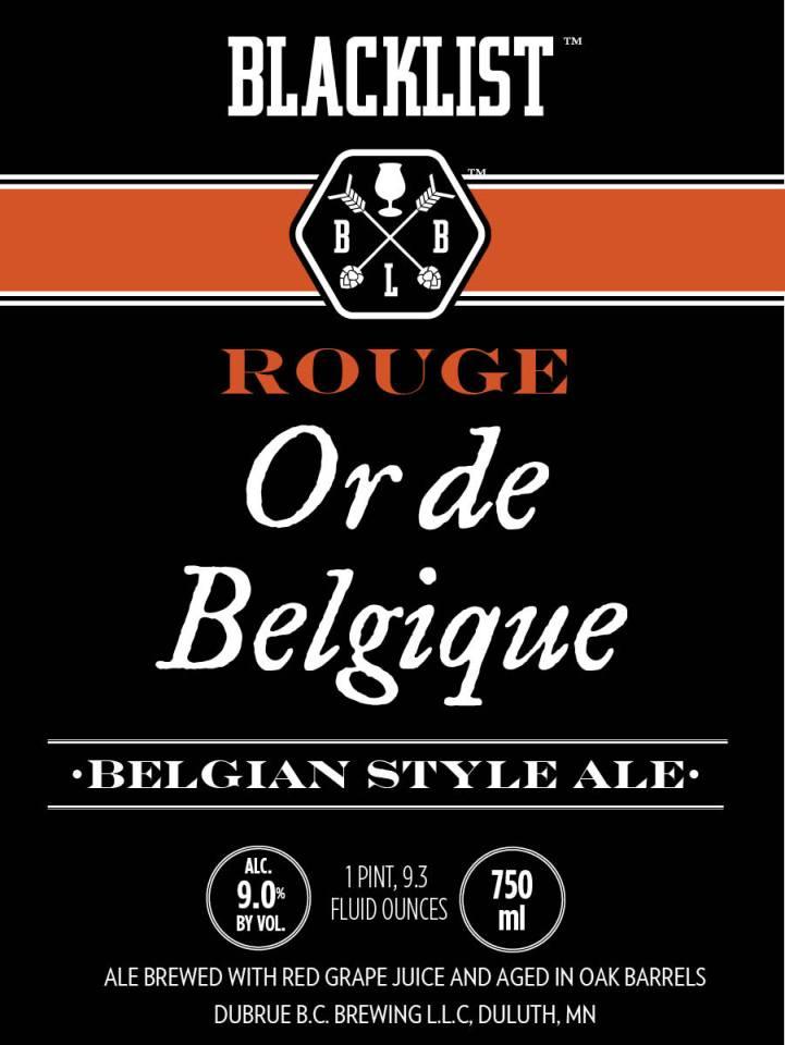 Blacklist Rouge Or de Belgique
