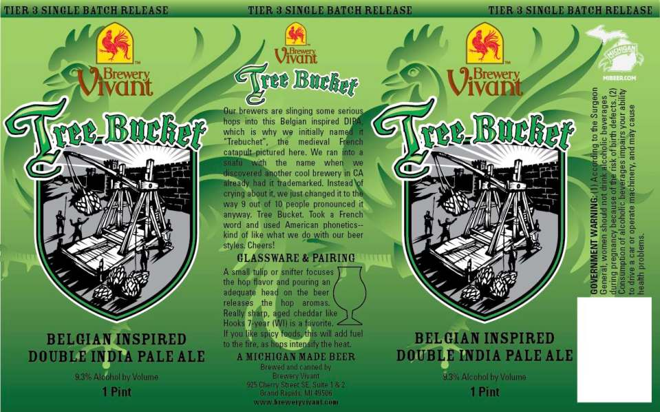 Brewery Vivant Tree Bucket