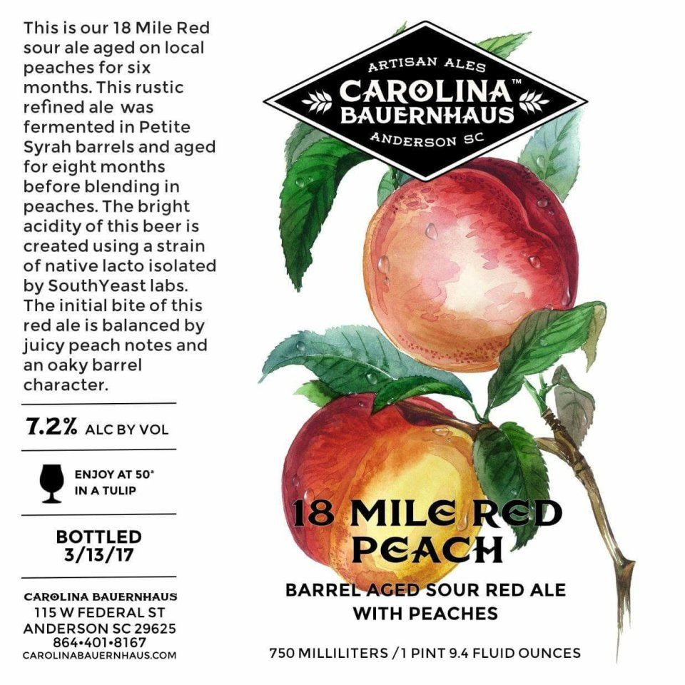 Carolina Bauernhaus 18 Mile Red Peach