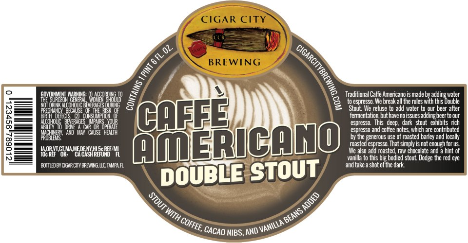 Cigar City Caffe Americano Double Stout