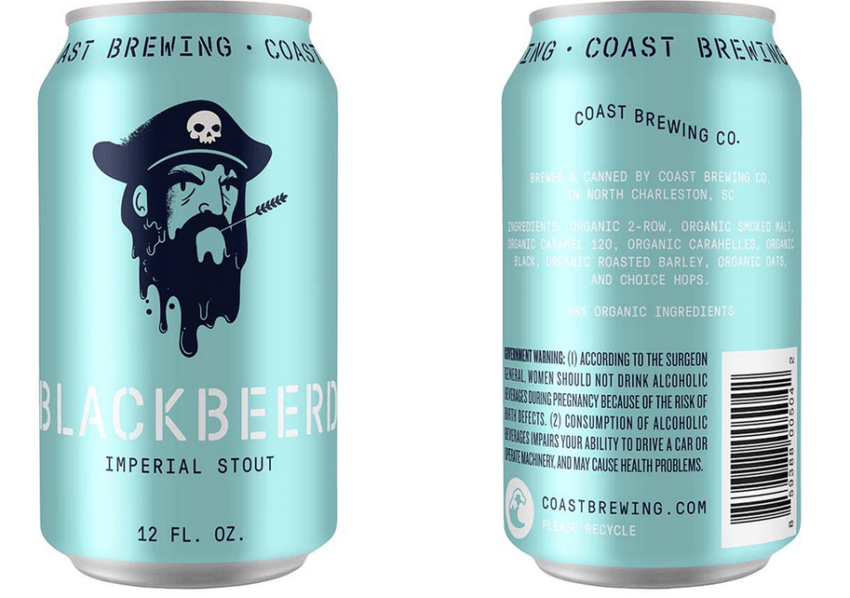 Coast Blackbeerd Imperial Stout Cans