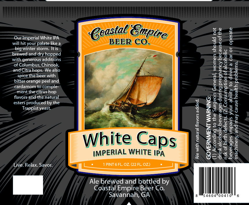 Coastal Empire White Caps Imperial White IPA