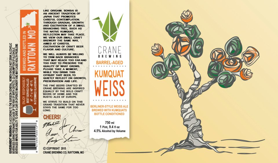 Crane Brewing Barrel-Aged Kumquat Weiss