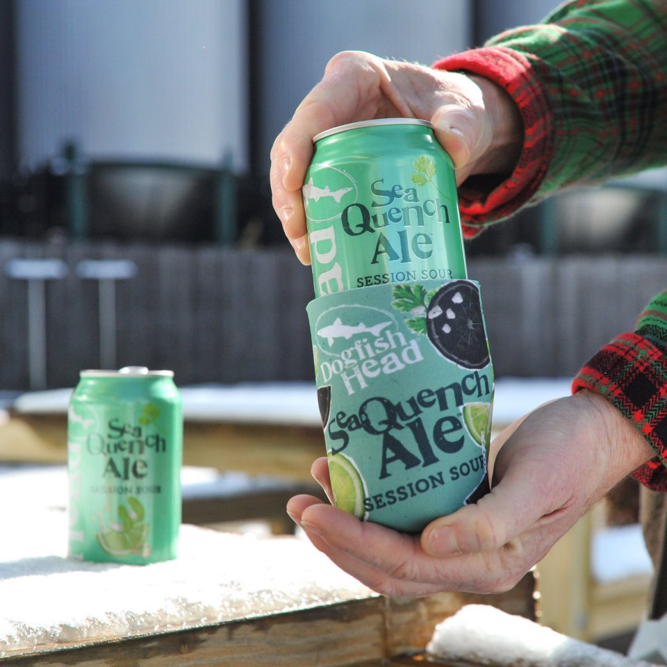 Dogfish SeaQuench Ale cans