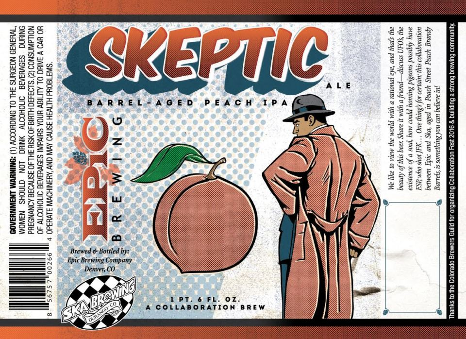 Epic Skeptic Barrel-Aged Peach IPA 2016