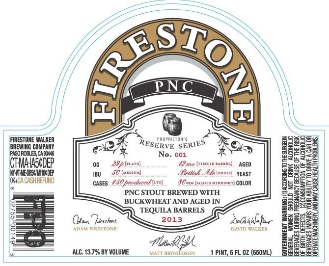 FIrestone Walker PNC Stout