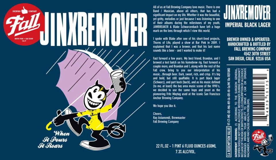Fall Brewing Jinxremover Imperial Black Lager