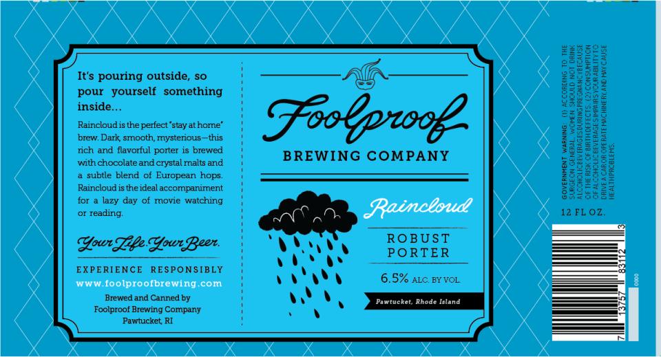 Foolproof Brewing Company Raincloud Robust Porter