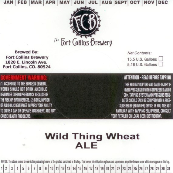 Fort Collins Wild Thing Wheat Draft
