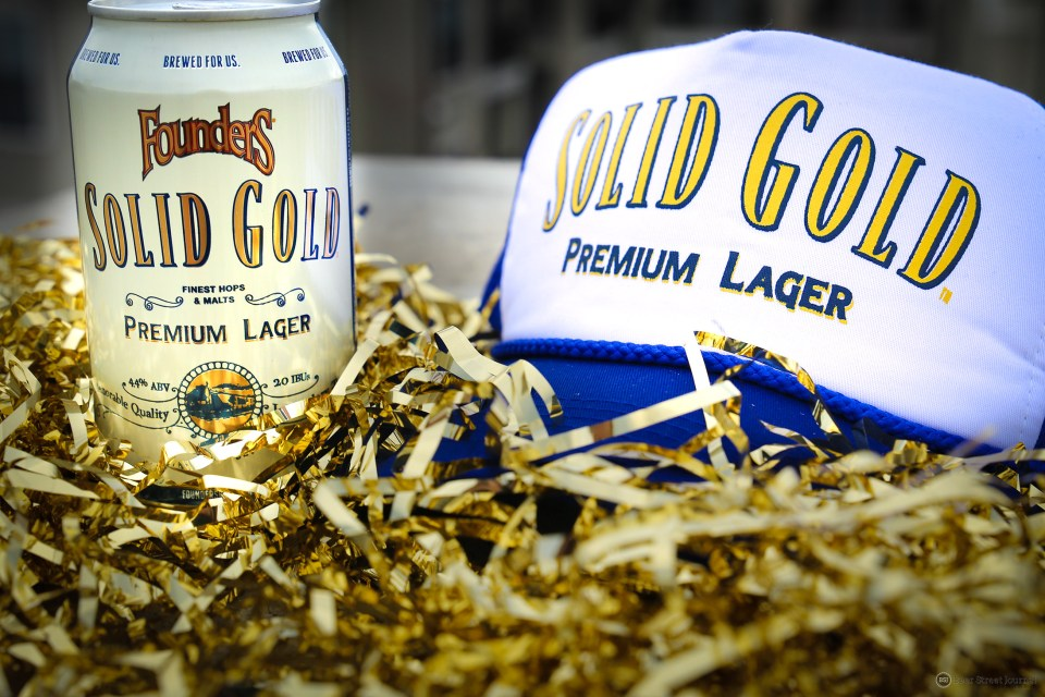 Founders Solid Gold Can Swag