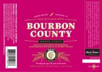 Goose Island Backyard Rye Bourbon County. (3) different berries, Rye whiskey.
