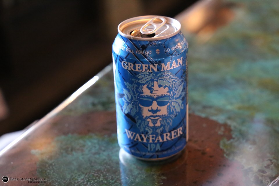 Green Man Wayfarer IPA can