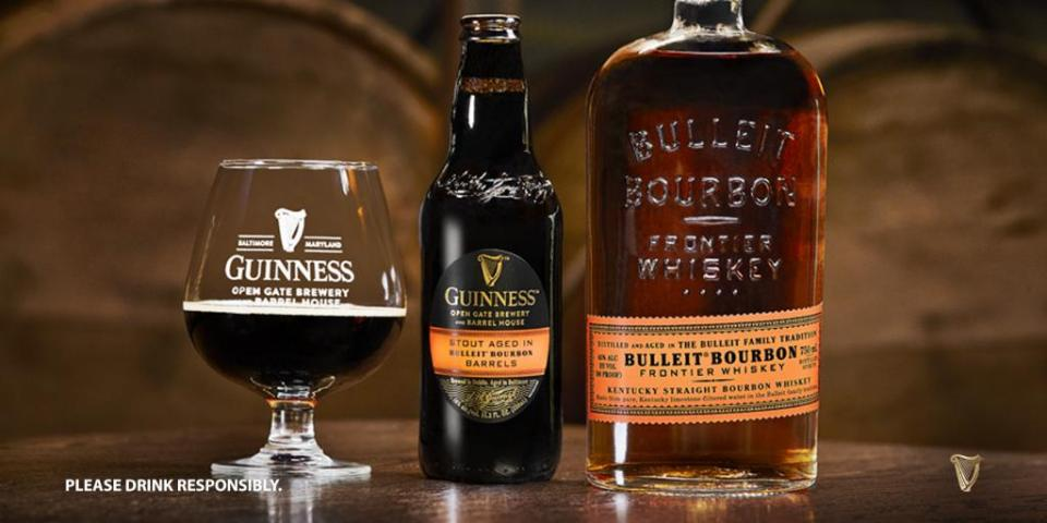 Guinness Stout Aged in Bulleit Barrels